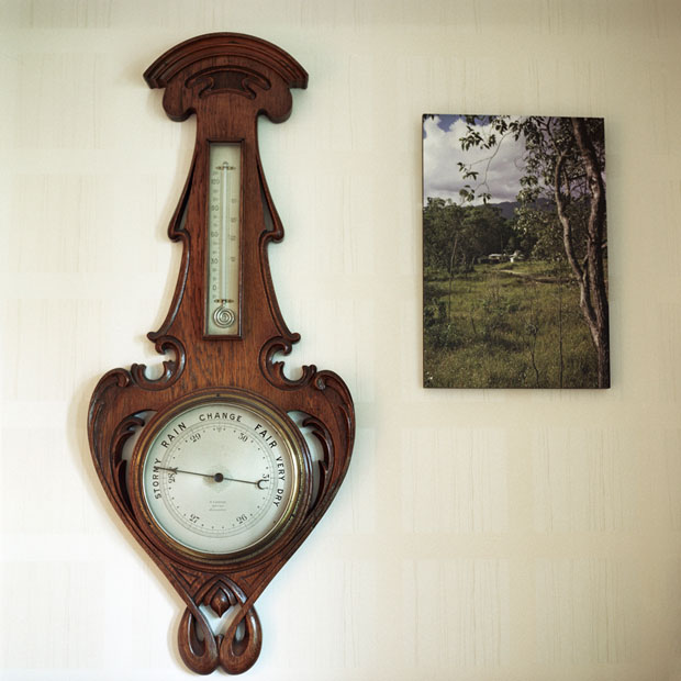 Barometer and Dad's photo from his travels in 1960s Australia. © Hannah Laycock, all rights reserved.