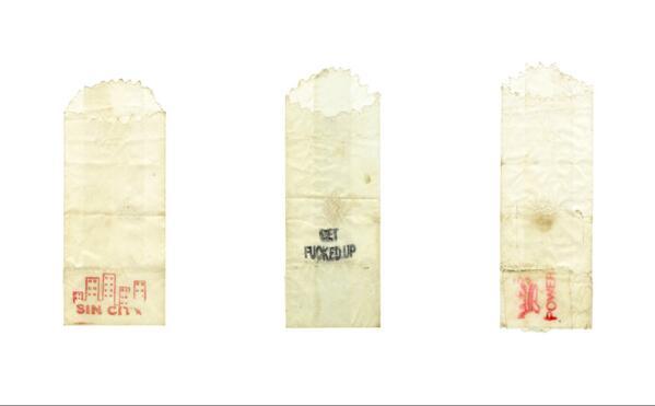 Drug bags. © Graham MacIndoe 2014, all rights reserved.