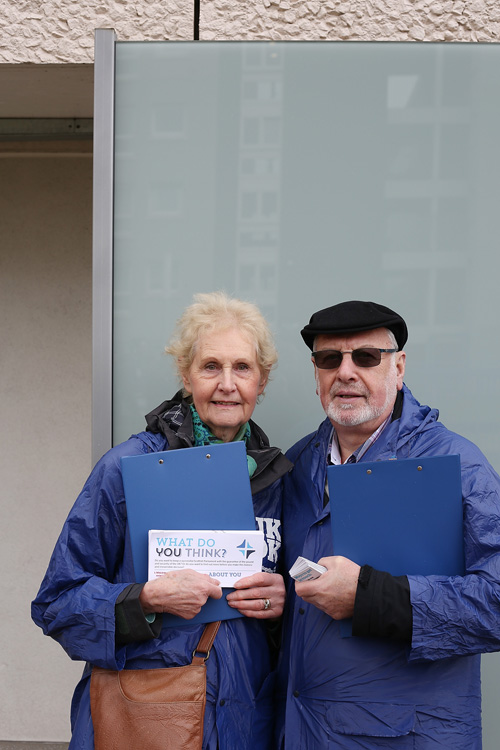 Olive and Matt, Better Together campaigners, Glasgow. ©Jeremy Sutton-Hibbert 2014, all rights reserved.