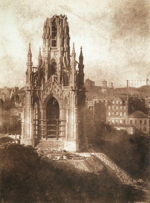 Scott Monument, Edinburgh. Photograph by D O Hill & R Adamson, 1843.