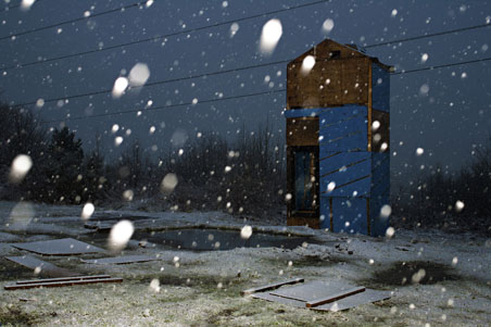 Glasgow doo'cot in the snow. Photograph by Stephen McLaren, 2012.