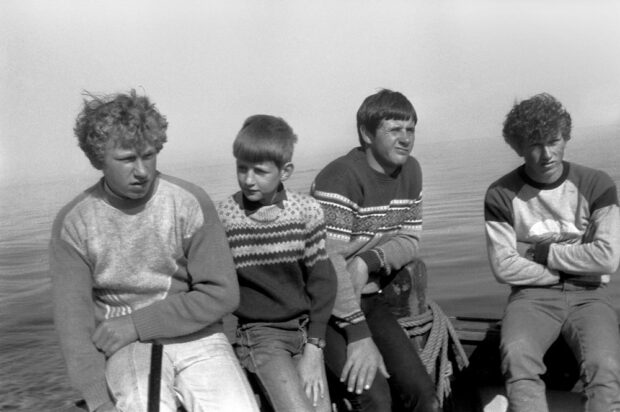 Doilley, Eoin, Roddy and Eoin, 1985. ©Paul Glazier 1985, all rights reserved.