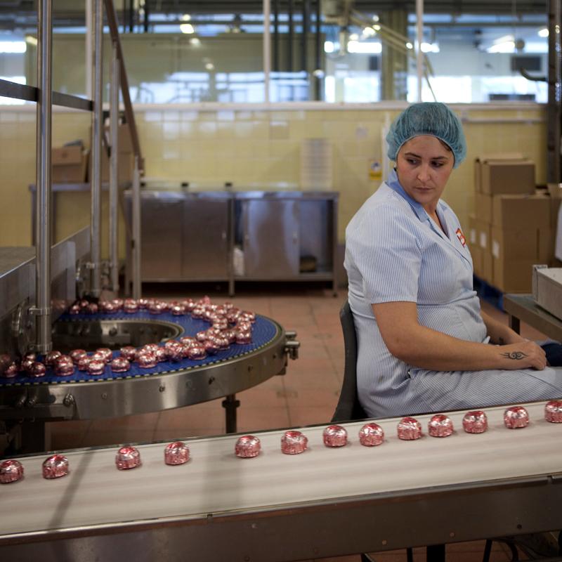 The Tunnock's Teacake production line