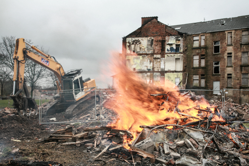 Commonwealth Games in Dalmarnock eviction
