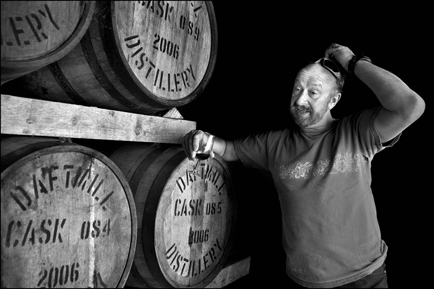 Jewish  analytical chemist at a whisky distillery, Fife. Photograph © Judah Passow, 2013.