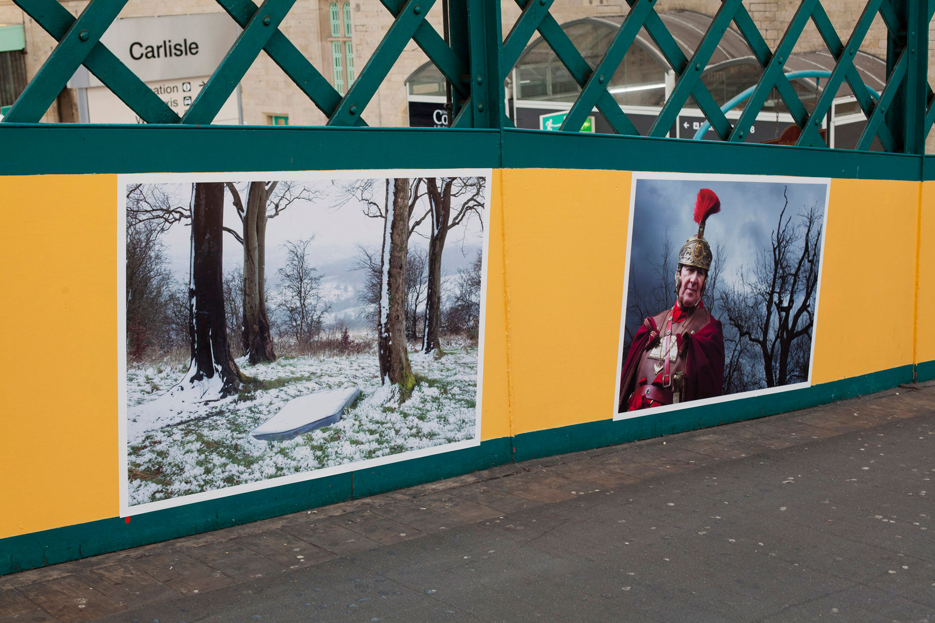Jeremy Sutton-Hibbert's images from 'Edge of an Empire' installed at Carlisle Photo Festival © Streetlevel Photoworks November 2014