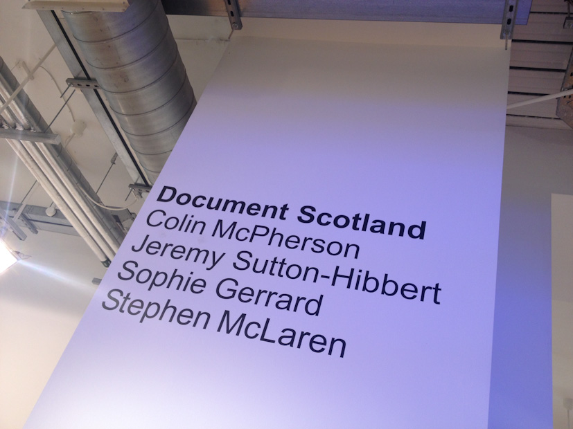 Document Scotland are...  Common Ground photography exhibition at Street Level Photoworks,  in Glasgow, Scotland 28 August 2014
