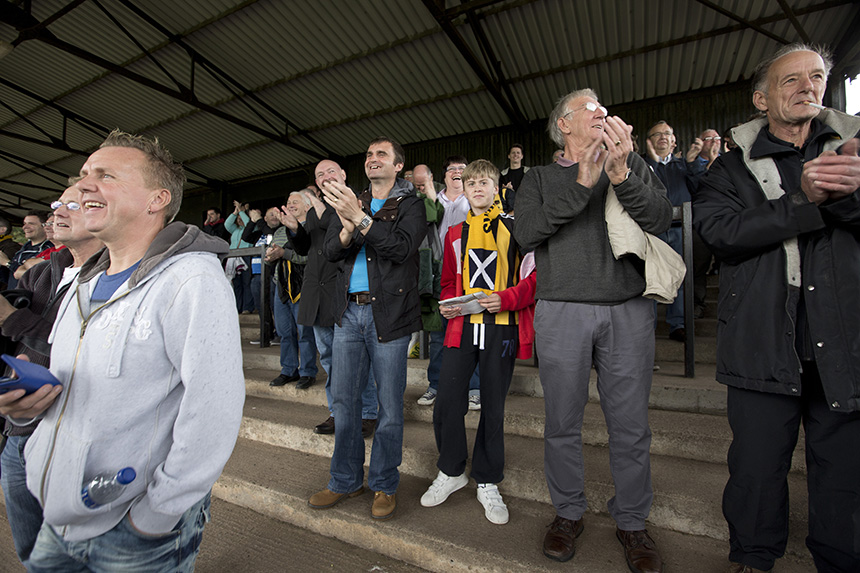 Berwick's duel identity on display. Photo © Colin McPherson, 2014 all rights reserved.