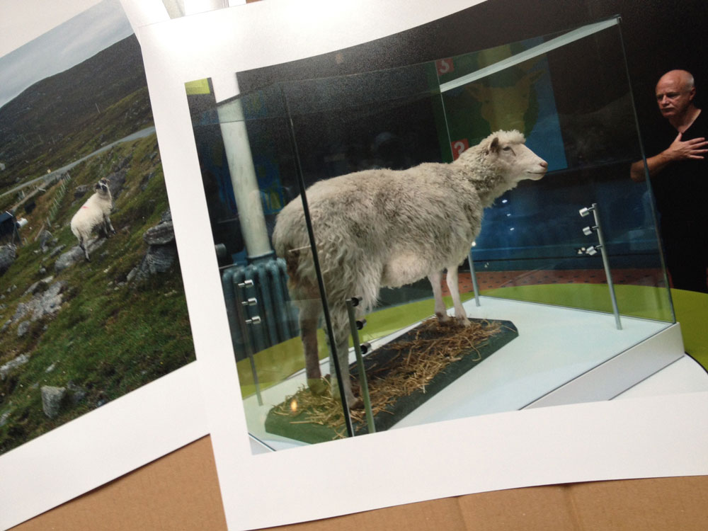 Stephen McLaren's prints from the series 'Scotia Nova' being boxed for the University of St Andrews Special Collection archive. © Document Scotland 2015 all rights reserved.