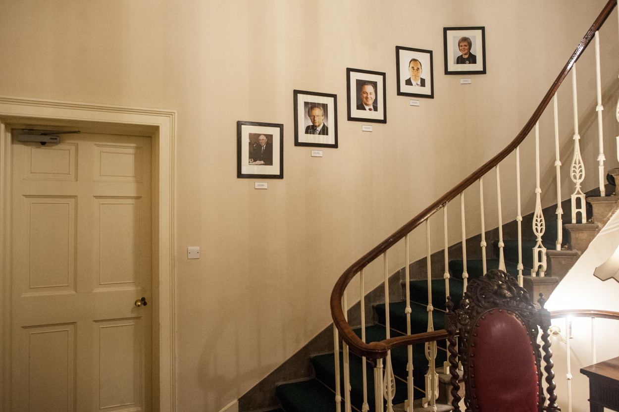 The First Minister's portrait is added to the walls at the official residence at Bute House in Edinburgh.  Photograph © Peter McNally, 2014 all rights reserved.