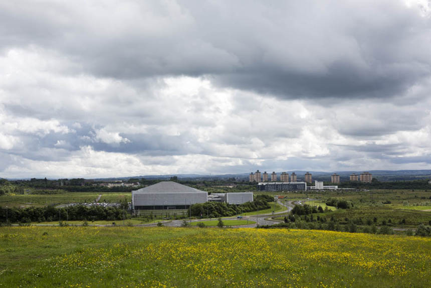 View across Ravenscraig, the location for the 'Steel Man' sculpture. Photograph © Colin McPherson, 2014 all rights reserved.