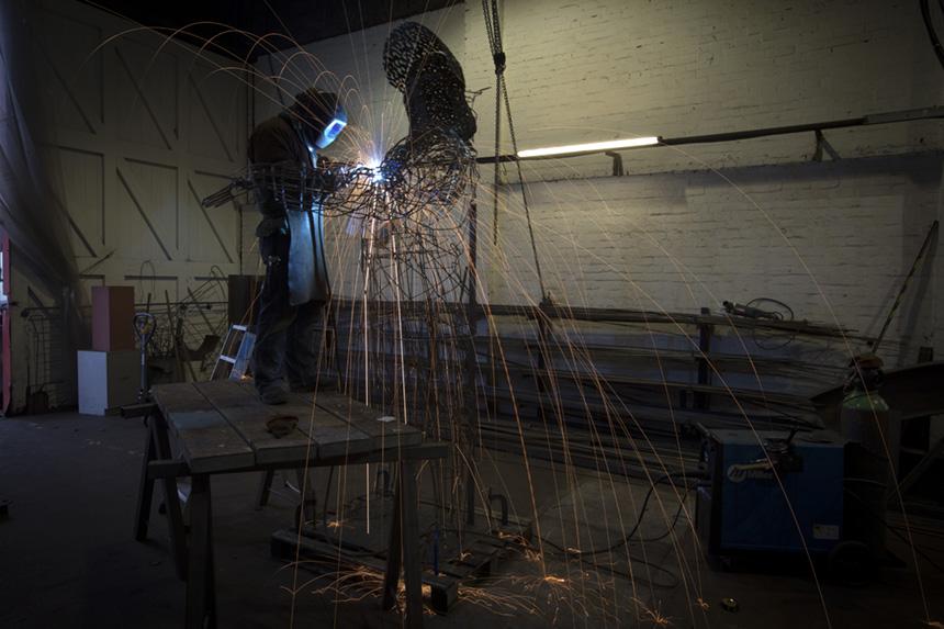 UK - Glasgow - Sculptor Andy Scott