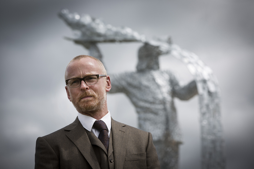 Andy Scott pictured at the official unveiling of 'Steel Man'. Photograph © Colin McPherson, 2015 all rights reserved.