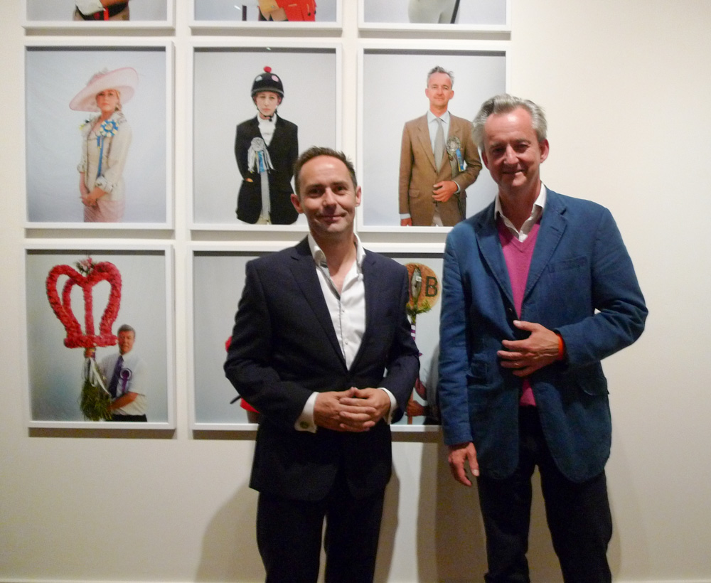 Graham Hamilton and Jeremy Sutton-Hibbert at Document Scotland's 'The Ties That Bind' exhibition, including 'Unsullied And Untarnished' at the Scottish National Portrait Gallery, in Edinburgh, Scotland, on Thursday, 24 September 2015.