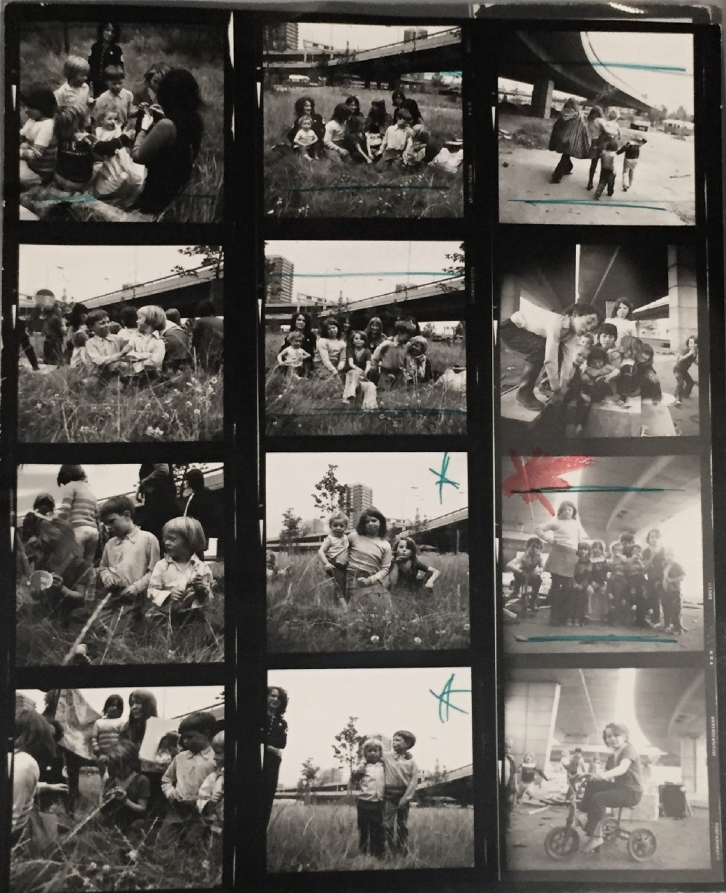 Jo Spence, Contact Sheet - Gypsies, Vintage Gelatin Silver Print, 1974 © Jo Spence & Terry Dennett image courtesy of Hyman Collection, London