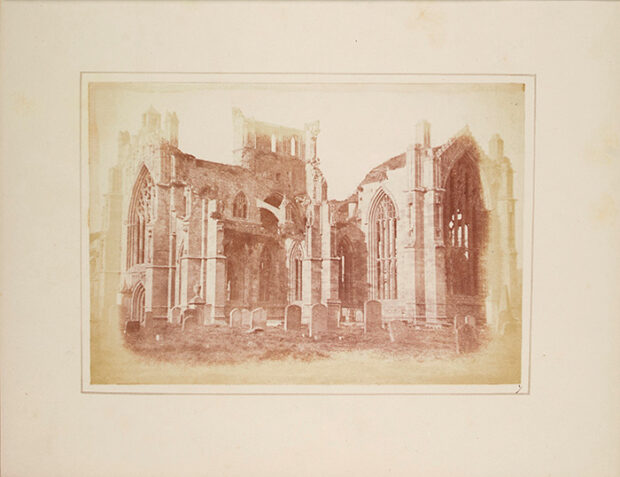 Melrose Abbey, from 'Sun Pictures in Scotland' by William Henry Fox Talbot.
