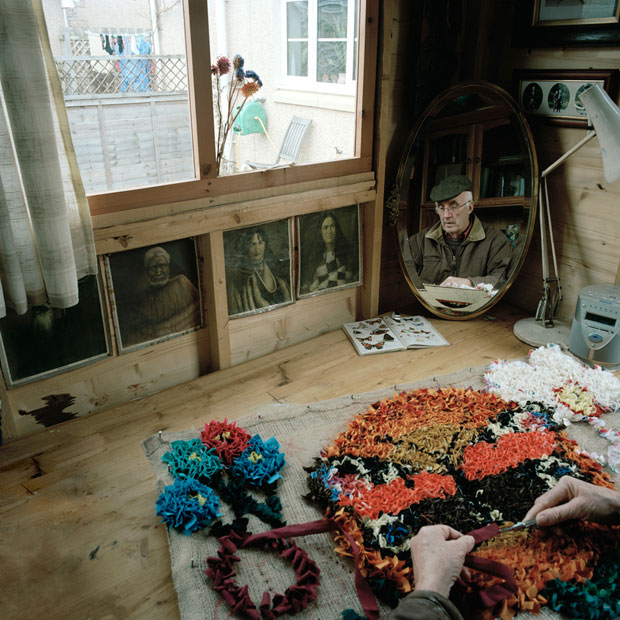 Rag-rug and Māori portraits. © Hannah Laycock, all rights reserved