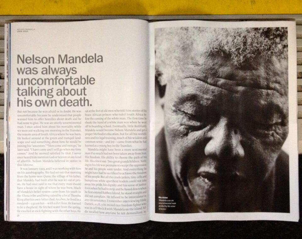 Time Magazine, Dec 2013.