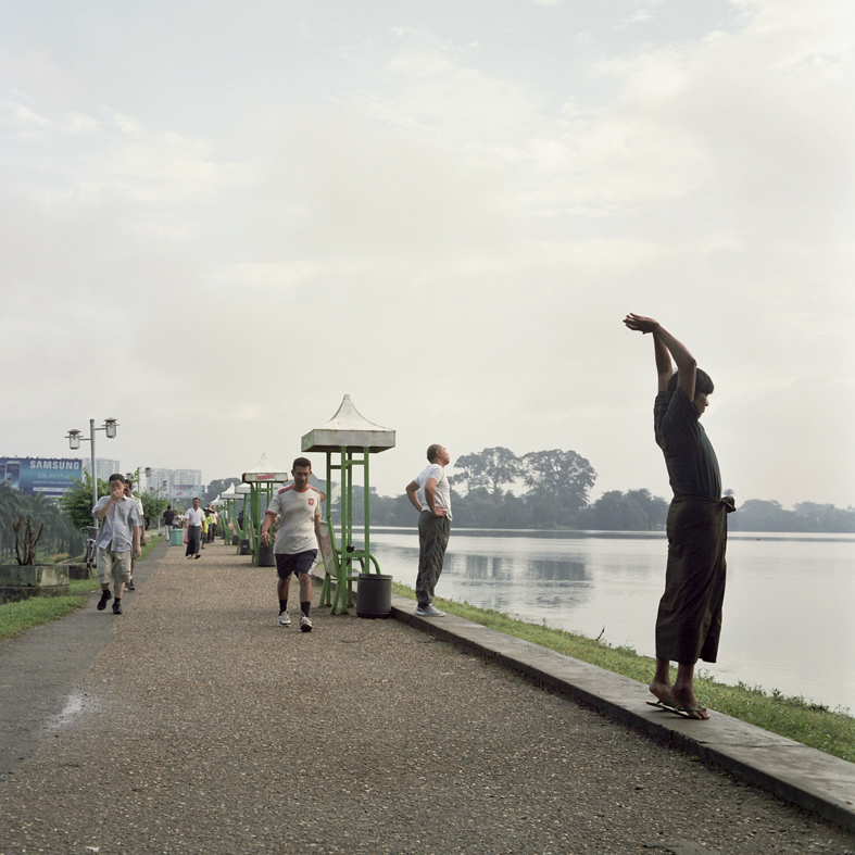 Early morning exercises on Inya Lake, Yangon, Myanmar © Sophie Gerrard all rights reserved