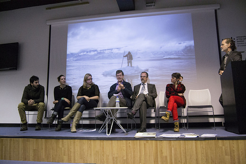 Panel discussion at Survival - the debate on imagery communication and the environmental at Green Week, LCC, London February 2014. © Lewis Bush 2014 all rights reserved