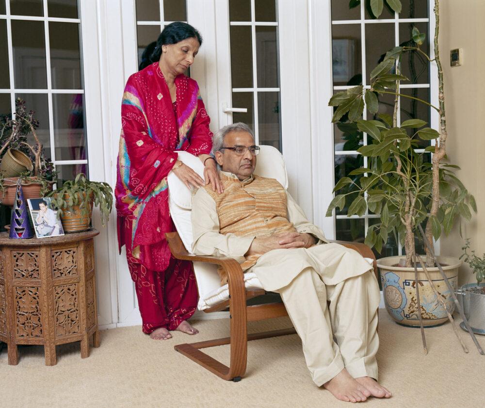 King Dasaratha and Queen Kausilya (Mr and Mrs Agarwal)