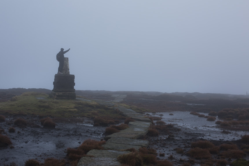 The summit of the Cheviot, shrouded in fog and mystery. Photograph © Colin McPherson 2014, all rights reserved.