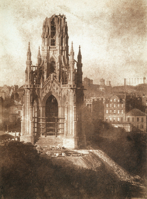 Scott Monument, Edinburgh. Photograph by D O Hill & R Adamson, 1843.