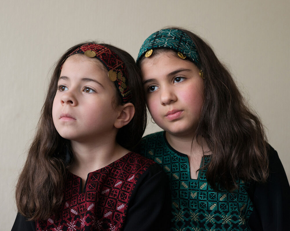 Tasnim & Yasmina, Jenin © Jim Yorkston 2014 all rights reserved.