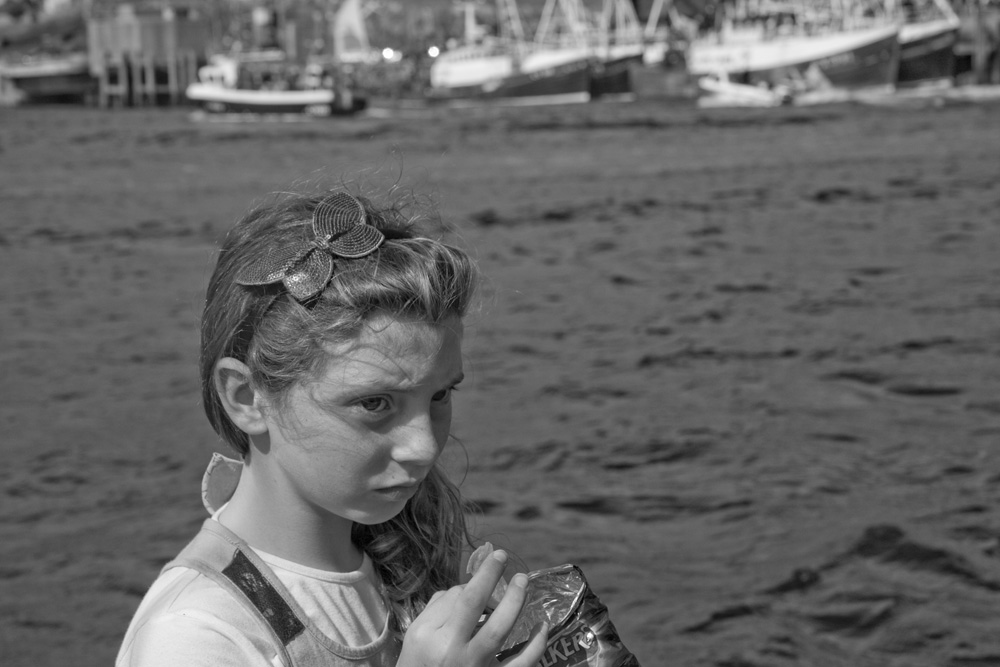 Lucy, 2011, During the Fisherman's Mass at Castlebay, Barra. ©Paul Glazier 2011, all rights reserved.
