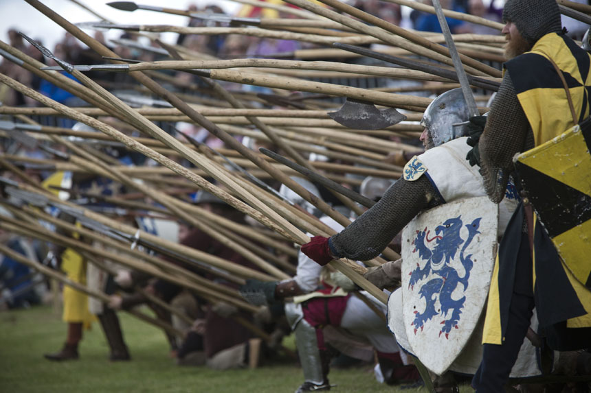 The Scots show their deadly shilterns. Photograph © Colin McPherson 2014, all rights reserved.