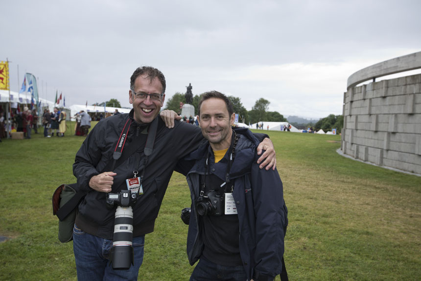 Two modern-day Scottish warriors. Photograph © Simon Roberts 2014, all rights reserved.