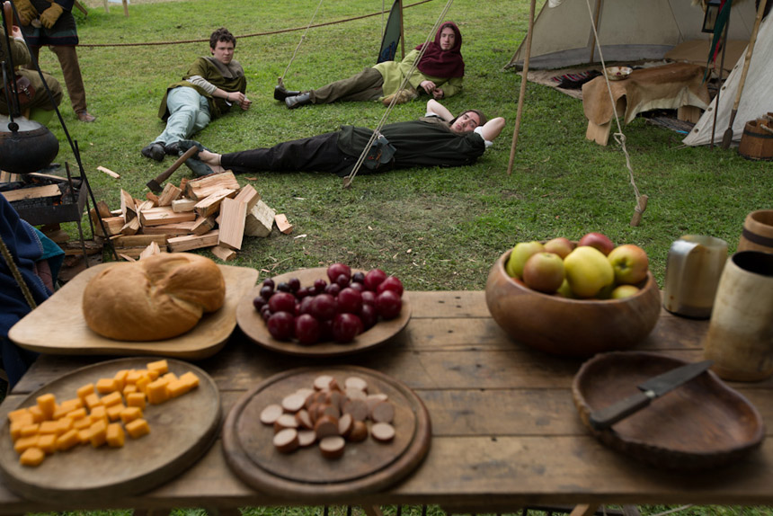 Grubs up, 14th century style. Photograph ¸Jeremy Sutton-Hibbert 2014, all rights reserved.