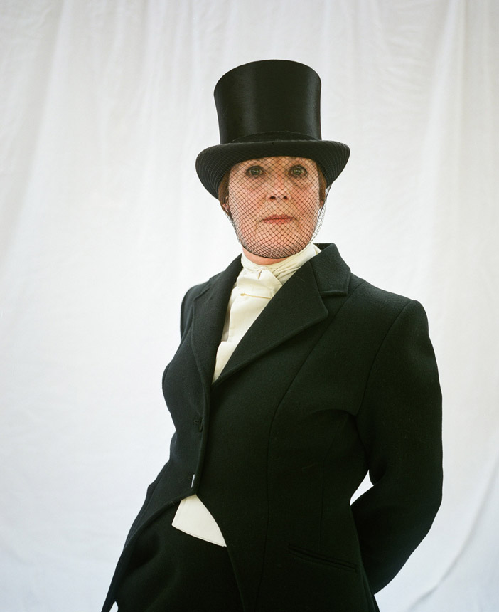 'Bel Kay, riding side saddle, Peebles' from the series Unsullied and Untarnished. Photograph © Jeremy Sutton-Hibbert, 2014 all rights reserved.