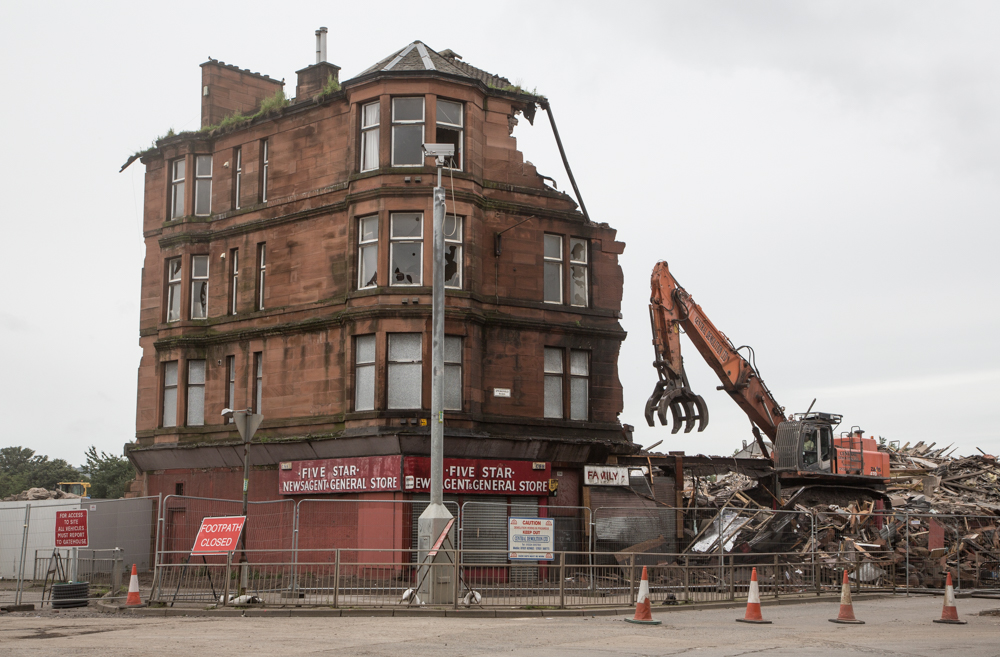 Demolition in Dalmarnock