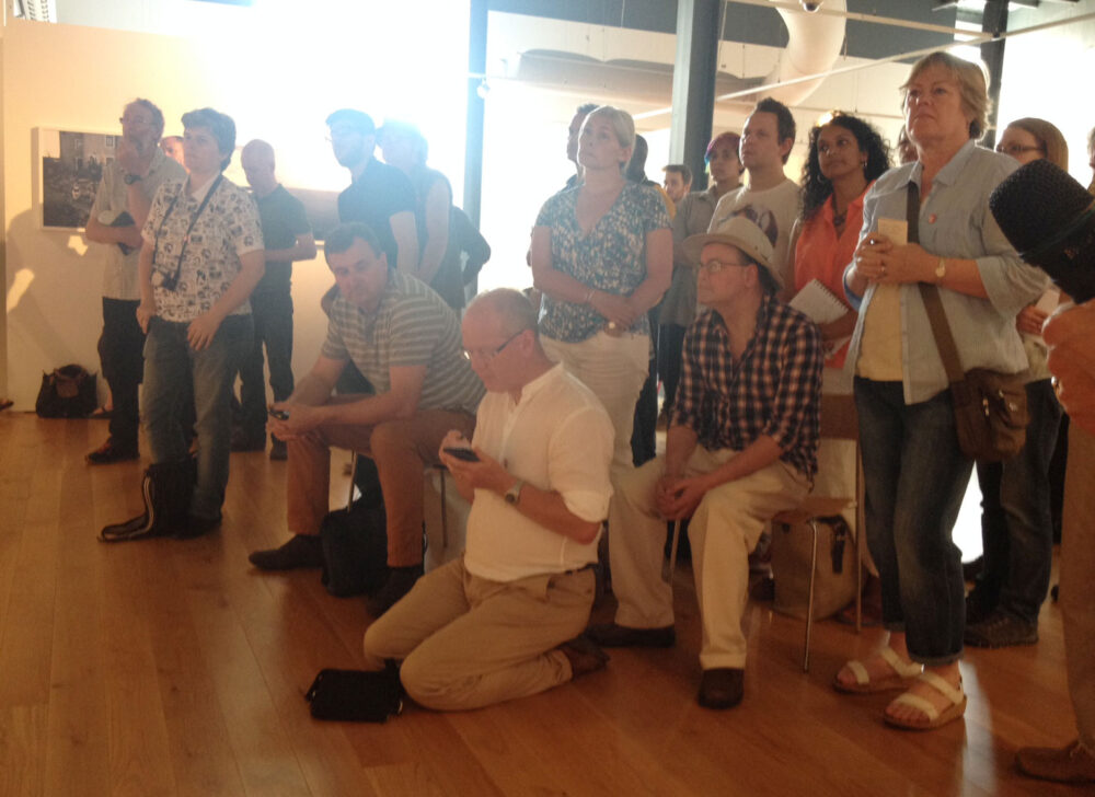 The audience at Impressions Gallery, July 2014 © Jeremy Sutton-Hibbert July 2014