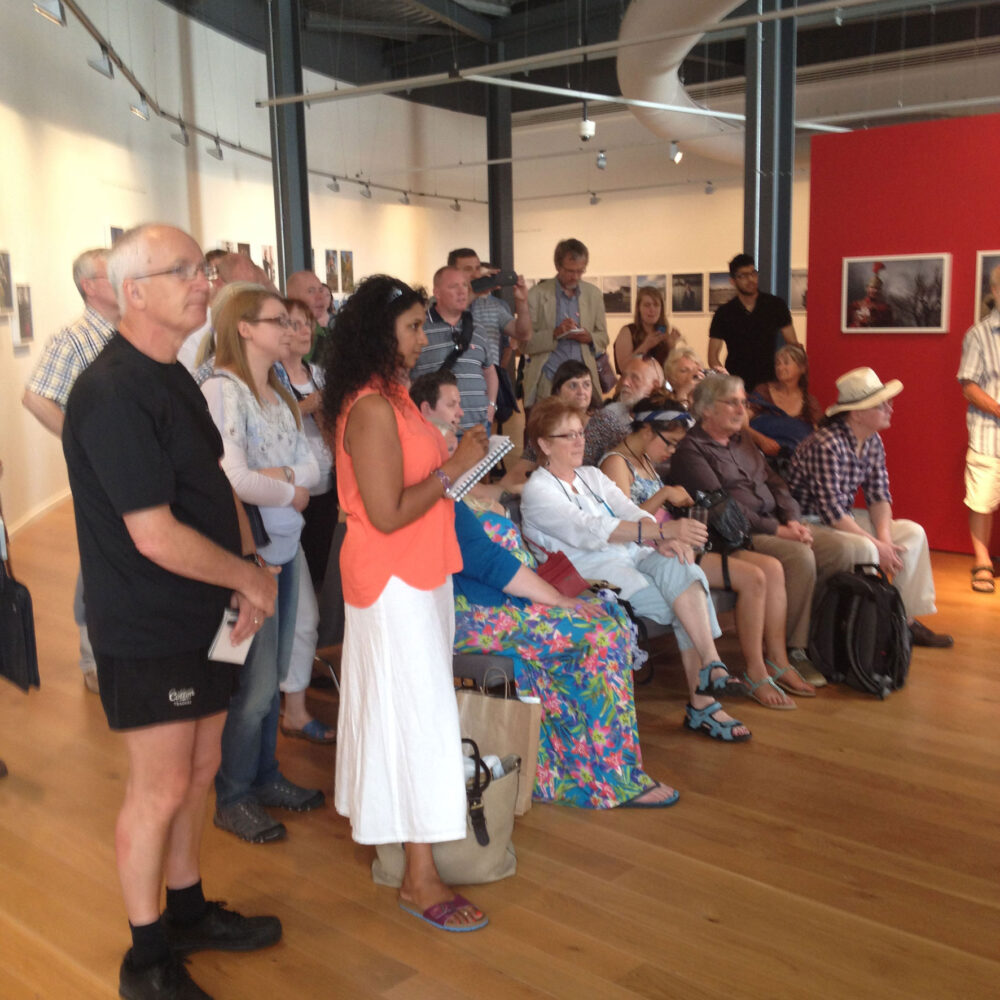 The audience at Impressions Gallery, July 2014 © Sophie Gerrard July 2014