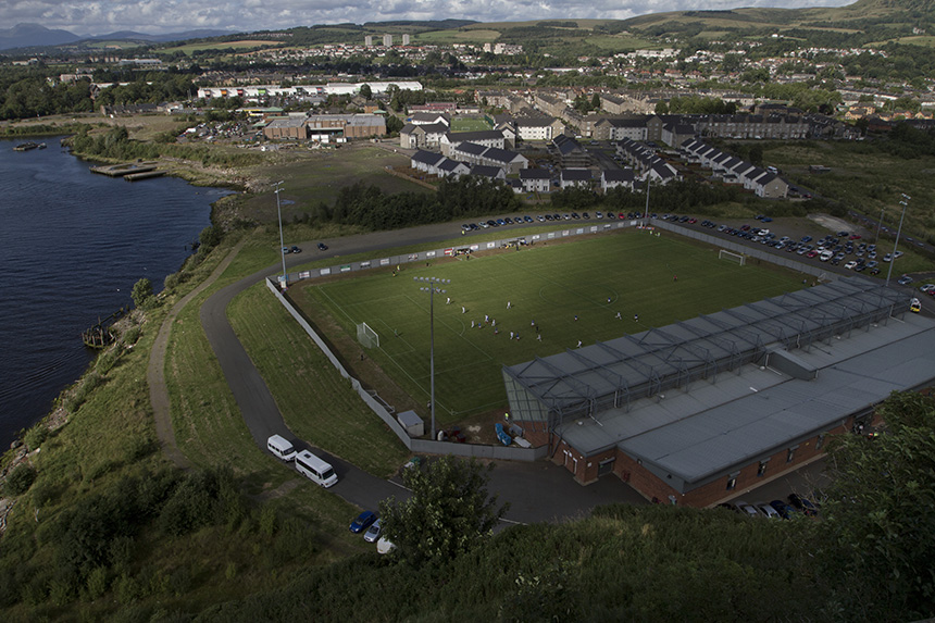 View from The Rock of Dumbarton v Cowdenbeath. Photo © Colin McPherson, 2012 all rights reserved.