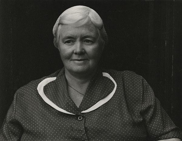 Paul Strand (1890-1976) Mrs. Archie MacDonald, South Uist, Hebrides, 1954 Photograph (gelatine silver print): 11.4 x 14.6 cm Scottish National Portrait Gallery © Aperture Foundation Inc., Paul Strand Archive