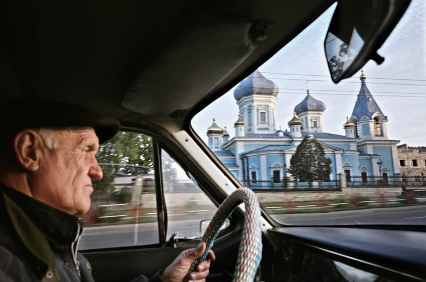 Taxi driver, Moldova, 2004. Photograph © Colin McPherson, all rights reserved.