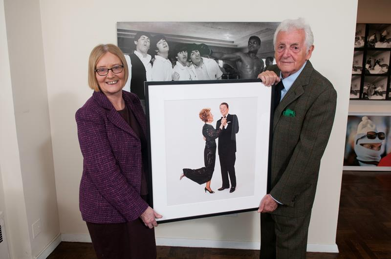 The Presiding Officer, the Rt Hon Tricia Marwick, with Harry Benson CBE.