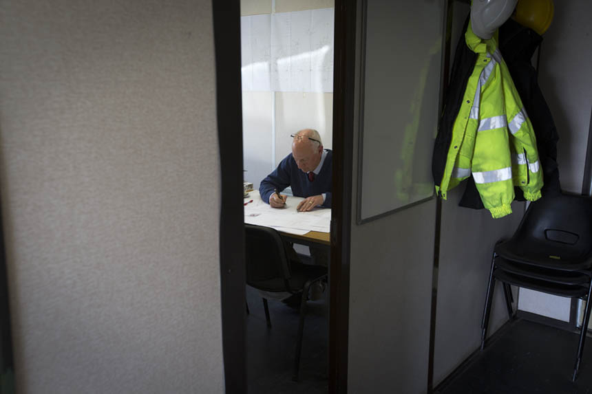 Project director Ian Palmer in his office. Photograph © Colin McPherson, 2015 all rights reserved.
