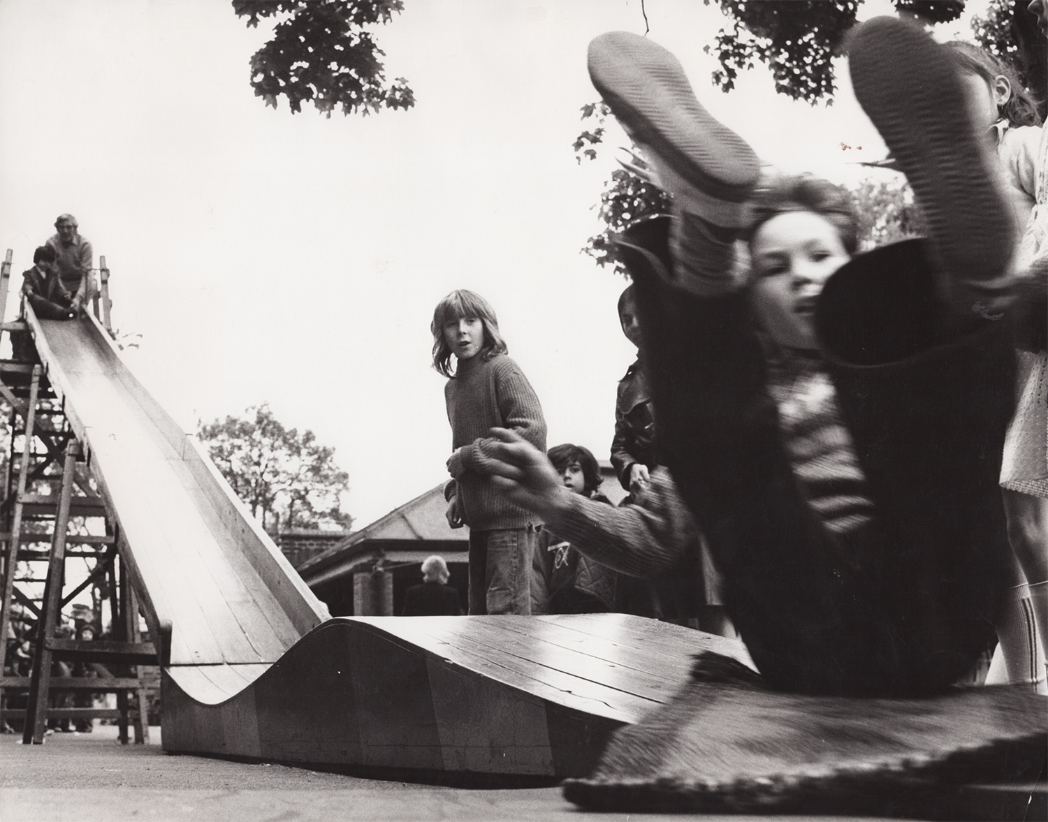 Jo Spence, Adventure Playgrounds: Photographing housing communities and children's playgrounds (1973-1975). Copyright the Estate of Jo Spence. Courtesy Richard Saltoun Gallery