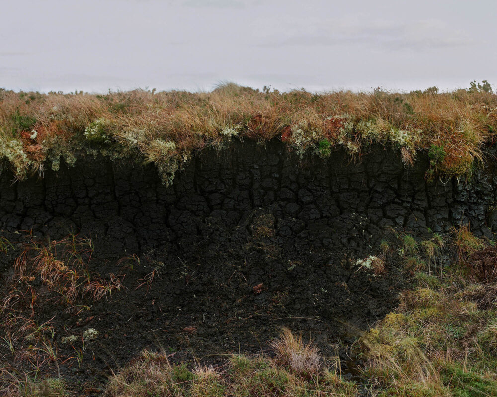 Peat cross section, from the series 'The Flows' © Sophie Gerrard 2018